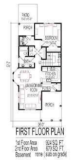 chic design small narrow lot house plans 13 for lots on modern decor ideas