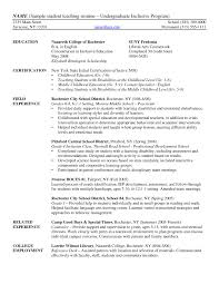 Sample Of Resume For College Student Resume Template For Undergraduate College Student Best Resume Examples 52