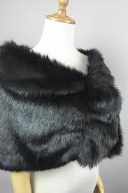 Sissily Designs Etsy Black Faux Fur Bridal Wrap Wedding Fur Shrug Brown Fur Wrap