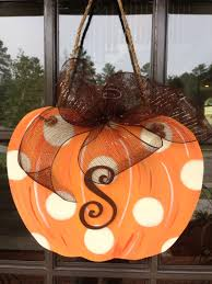 Decorative Door Hangers Door Hanger Fall Front Door Decoration Pumpkin Door