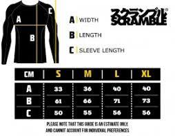 Scramble Bjj Size Chart Online Shop Arlan Brand Atalog Rash Guards Scramble