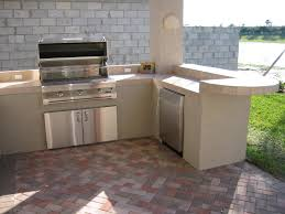 Diy Outdoor Kitchen Frames Surprising Outdoor Kitchen With Wooden Plank Frames Combined