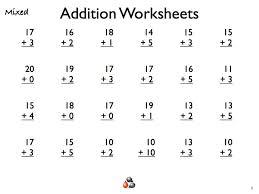 Addition Worksheets for First Grade | Homeschooldressage.com