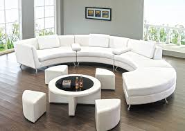 Round Sectional Sofa Has One Of The Best Kind Of Other Is Sectionals Sofa  Ideas Using Round White Leather Sectional Sofa With Low Style Chrome Metal  Legs ...