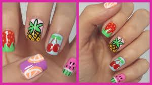 Easy Fruit Nail Art! - YouTube