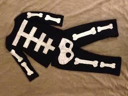 homemade toddler skeleton costume