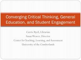 Critical thinking in education powerpoint   College paper Writing     SlideShare CRITICALTHINKING   During times of universal deceit telling the truth becomes  arevolutionary act