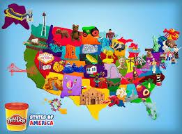 Scribe ⋆ Of Play-doh America States Makobi
