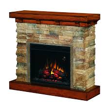 full image for stacked stone electric fireplace heater modern surround castlecreek