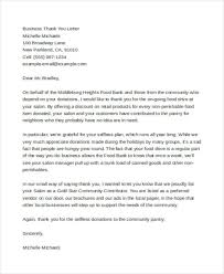 Thank You Letter For Food Donation 45 Thank You Letter Example Templates Free Premium Templates