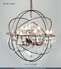 rustic crystal chandelier chandeliers modern vintage orb lighting candle led pendant hanging lig rustic crystal chandelier
