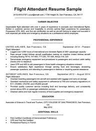 Sample Resume For Flight Attendant Flight Attendant Cover Letter Sample Guide Resume Companion