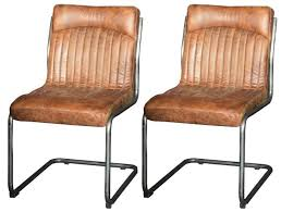carlton additions hipster retro vintage brown dining chair pair