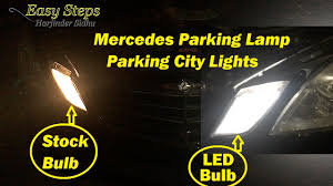W212 Parking Light Replacement How To Install Led Parking City Lights On Mercedes E550 W212 Led Upgrade Parking Lamp