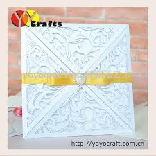 Class Party Invitation High Class Fancy Laser Cut Paper Crafts Four Folds Freshers Party