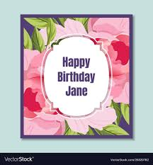 Happy Holiday Card Templates Happy Birthday Holiday Card Template With Elegant
