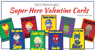 Add a sweet treat or a small gift to easily turn these cards into adorable classroom. Free Super Hero Valentine S Day Card Printables The Quiet Grove