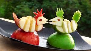 How to Make Apple Decoration | Apple Art | Fruit Carving Apple Garnishes -  YouTube