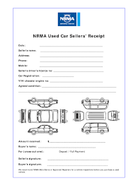 Sale Receipt For Car Nrma Used Car Sellers Receipt Fill Online Printable