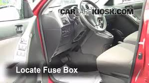 interior fuse box location 2003 2008 pontiac vibe 2008 pontiac locate interior fuse box and remove cover