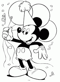 Happy Birthday Coloring Pages Disney Free
