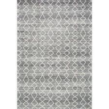 dede grey 2 ft x 3 ft area rug grey