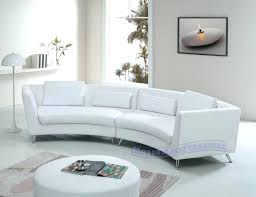 contemporary white sofa curved sectional and round sofas pertaining to modern decor 3 linen