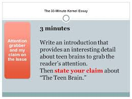 teen brains using citing sources to support a claim ppt video  the 33 minute kernel essay