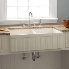 33 reinhard double bowl fireclay farmhouse sink biscuit