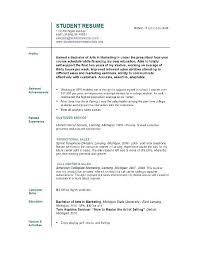 Recent College Graduate Resume Template College Duate Resume