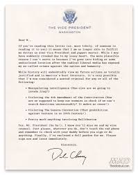 EXCLUSIVE: Vice President Dick Cheney's Resignation Letter | Mad ...