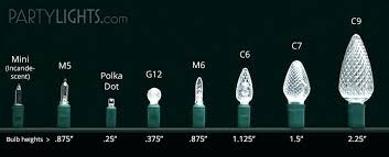 Christmas Light Bulb Sizes Jenessere Com