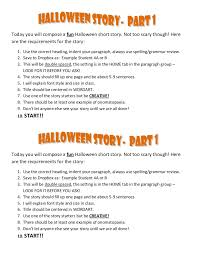 halloween story instructions