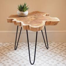 wood table tree wood slice coffee