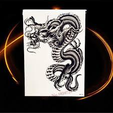 черный руна тотем символ поддельные татуировки паста водонепроницаемый средства