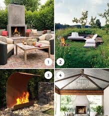9 amazing outdoor fireplaces the interior collective