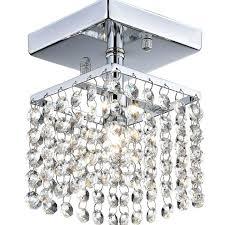 small flush mount crystal chandelier modern