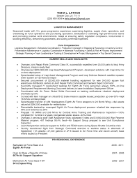 Sample Resume Of Logistics Supply Chain Manager Inspirationa