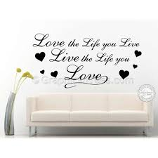Life Quote Wall Stickers Live The Life You Love Inspirational Quote Motivational Wall 97