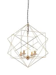 geometric pendant light gold wire rose ikea diy copper