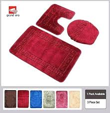 fuzzy bath mat grand era 3 piece rug set with pattern bathroom white sets patte