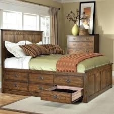 king bed frame with drawers oak park mission king bed with six storage drawers cal king bed frame with storage diy