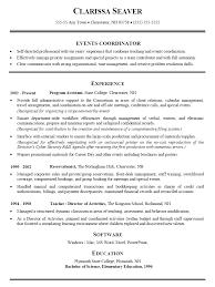Importance Of A Resume Event Coordinator Resume Sample Importance