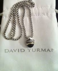david yurman black onyx sterling silver 14k gold pendant necklace