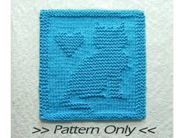 Cat Knitting Chart Cat Knitting Pattern Download