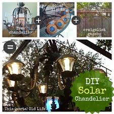 this sorta old life diy solar chandelier