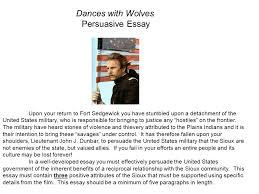 persuasive writing aim how can i write an effective persuasive dances wolves persuasive essay