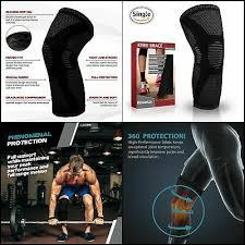 Powerlix Compression Knee Sleeve Sizing Chart Powerlix Compression Knee Sleeve Best Knee Brace For Men Women Knee Support Ebay