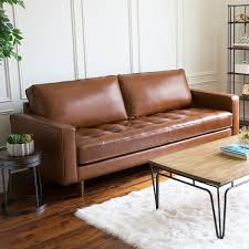 51 leather sofas to add effortless