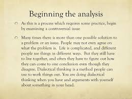 writing a dialectical essay social unit project ppt  4 beginning